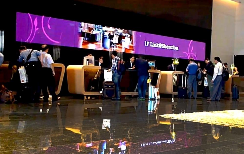 喜來登大飯店-P7.62室內LED全彩電視牆