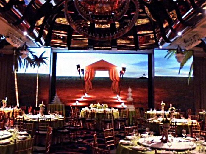雲朗觀光宴會廳-P7.62室內LED電視牆