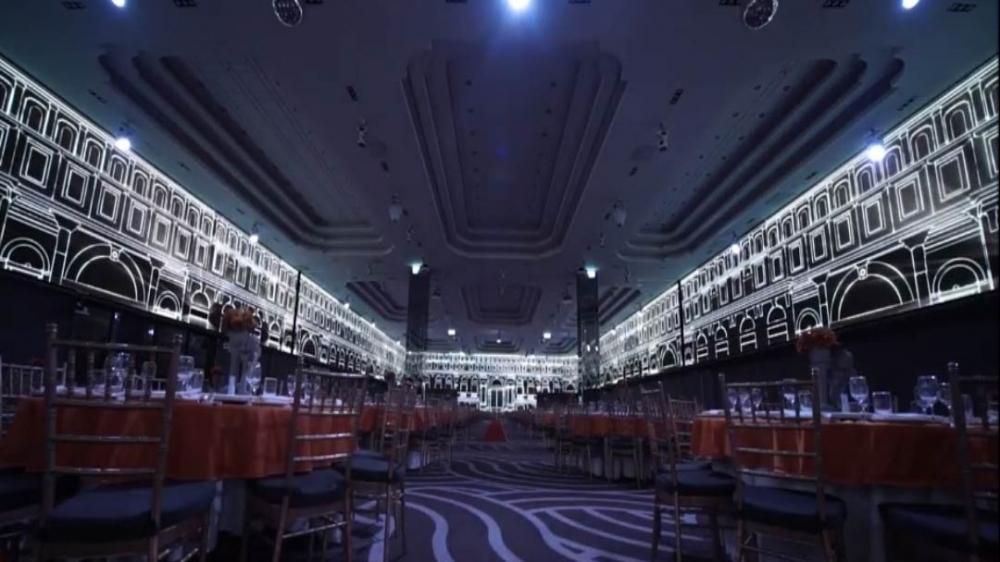 新莊頤品飯店-P7.62環繞異形屏室內LED電視牆