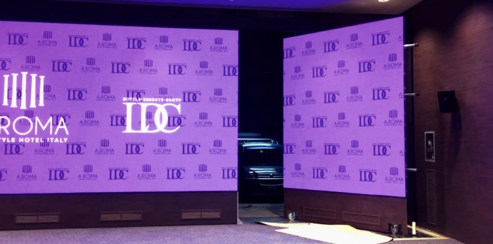 義大利羅馬大飯店-P2.5室內超大LED電視牆