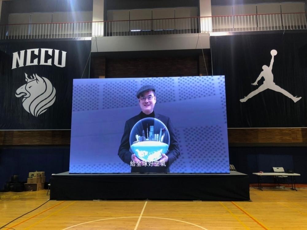 政治大學雄鷹盃租賃案例-P2.5室內LED電視牆
