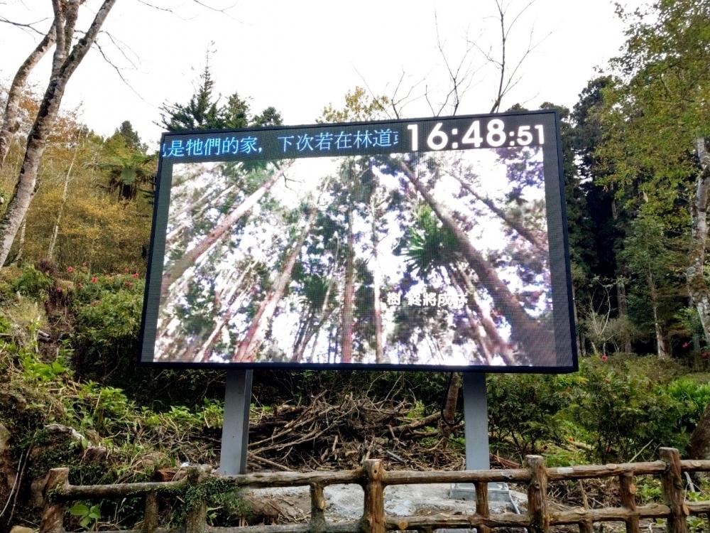 臺大實驗林-P6戶外LED電視牆-3