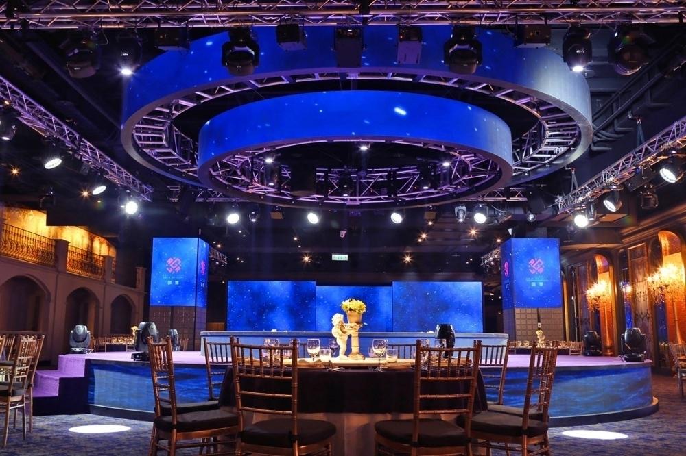 新莊 頤璽宴會廳-全台首創的360度圓形雙層升降LED螢幕-(上)