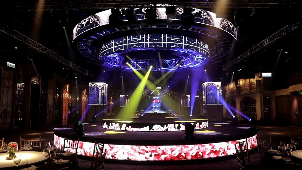 新莊 頤璽宴會廳-全台首創的360度圓形雙層升降LED螢幕-(下)