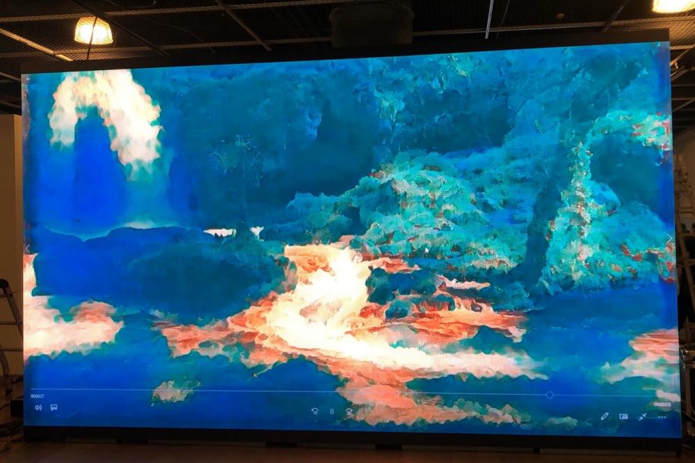 東海大學<藝術●AI●未來>展覽-P2.5室內LED電視牆-2