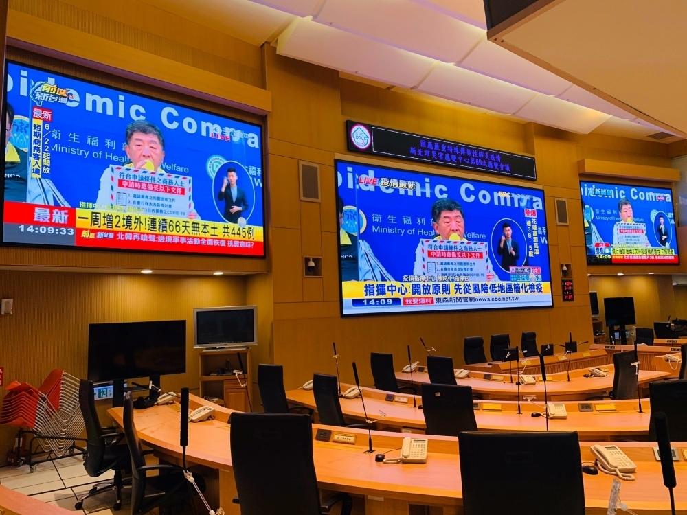 新北災害應變中心兩側電視牆-P2室內LED電視牆-2