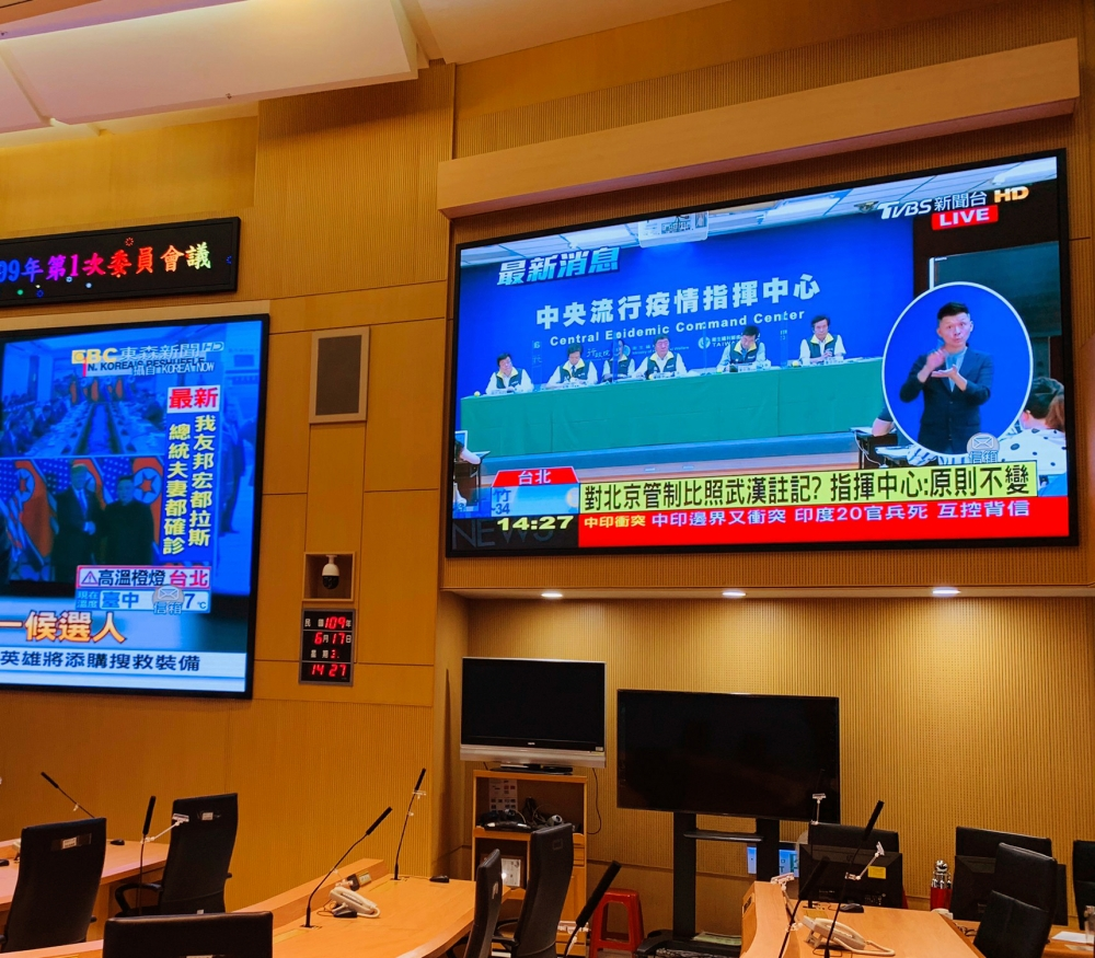 新北災害應變中心兩側電視牆-P2室內LED電視牆-1
