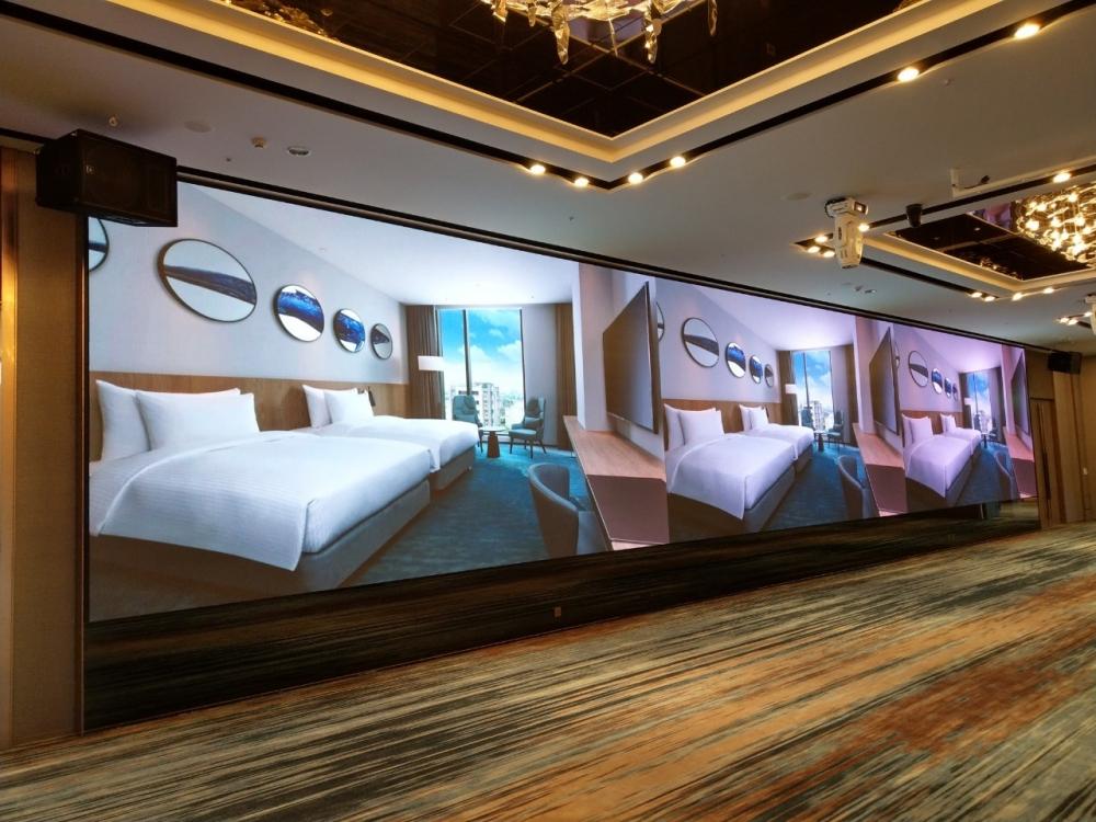 桃園COZZI國泰和逸飯店-P2.5室內LED電視牆-3