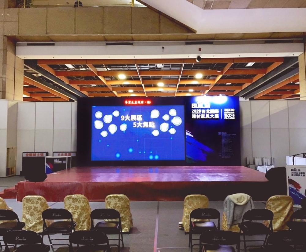 P2.5室內LED電視牆-臺北世貿國際建材家具展 租賃